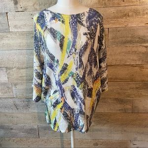 Inoah abstract knit tunic in size small